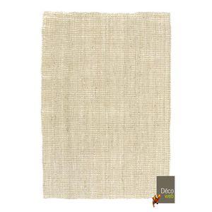 TAPIS Tapis naturel Bohème 100% Jute - Blanchi - 120 x 1