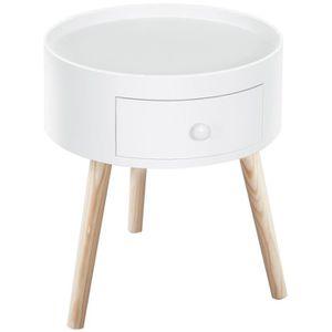 CHEVET Chevet table de nuit ronde design scandinave tiroi