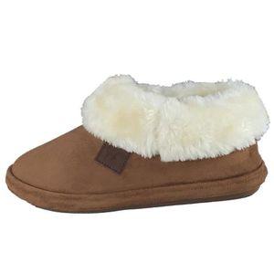 CHAUSSON - PANTOUFLE pantoufles de chausson chaud doublé chaud femme Q4