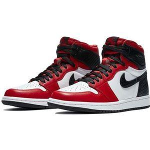 Jordan 1 rouge et blanc - Cdiscount