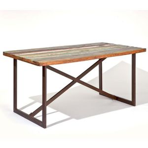 Table a manger bois recycle achat vente table a manger for Table a manger prix