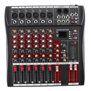 TABLE DE MIXAGE TEMPSA Table de mixage professionnel 6 Canaux USB