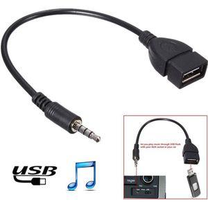 CÂBLES - JACK 3.5mm Mâle Audio AUX Jack Vers USB 2.0 A Femelle C