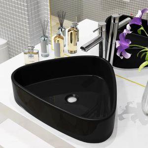 23x12cm Facile /à Installer Zoternen Lavabo Lave-Mains Salle de Bain WC Rond Vasque /à Poser en C/éramique Toilette /Évier Lavabo