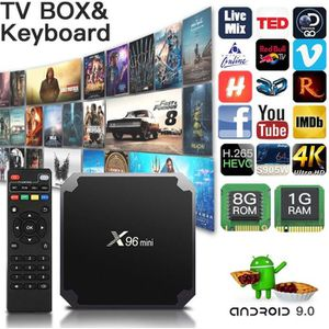 BOX MULTIMEDIA X96mini Décodeur Stream tv Box Android 9.0 avec Am