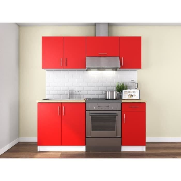 cuisine complete rouge achat vente cuisine complete rouge pas cher cdiscount. Black Bedroom Furniture Sets. Home Design Ideas