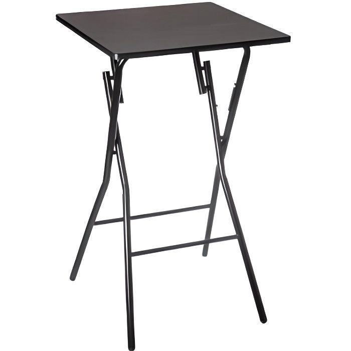 Tables & bureaux - Table de bar pliante - H 103 cm - Noir