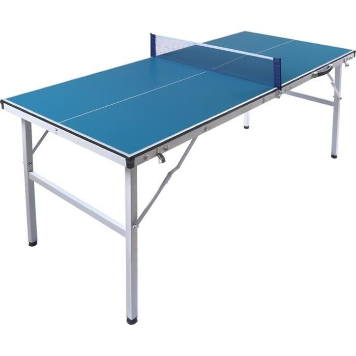 Table de Tennis de Table Pliable 150x66x69cm Anti-Rayures Mini Portable Ping-Pong Enfant