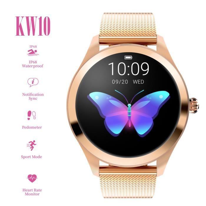 KW10 Smart Watch IP68 Bracelet de surveillance de la fréquence cardiaque étanche Fitness