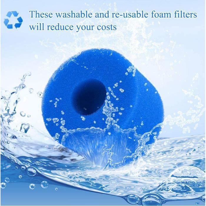 2 pièces Filtre Spa Éponge Filtrante pour Intex S1 Gonflable Filtre Spa Réutilisable Lavable Filtre Mousse pour Spa Intex Pure Spa T