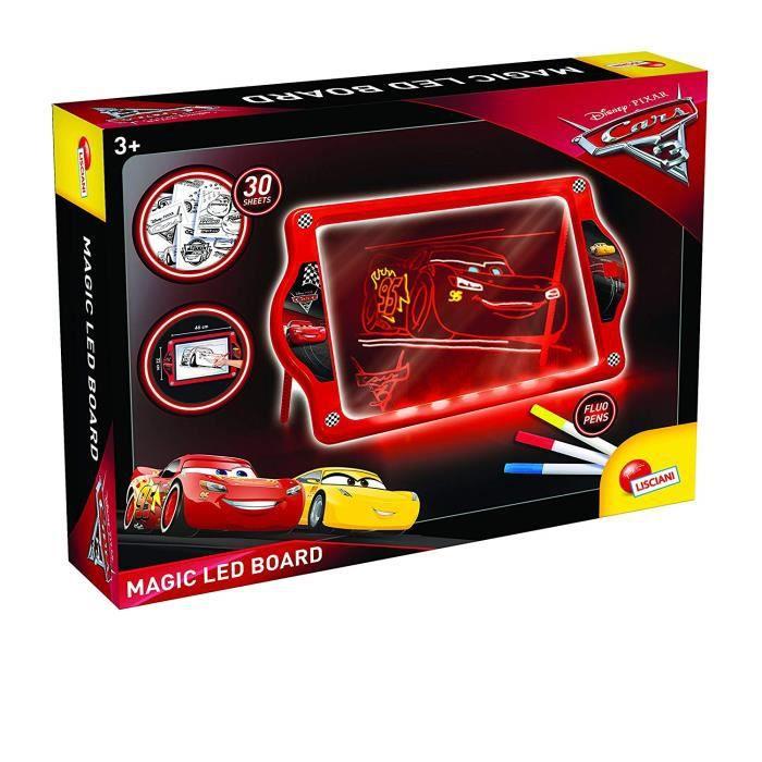 Lisciani Cars 3 L'Ardoise Magique Lumineuse A LED, 62454