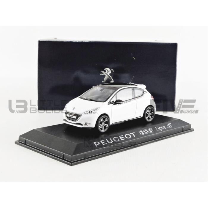 Voiture Miniature de Collection - NOREV 1/43 - PEUGEOT 208 Ligne S - 2012 - White - 472806