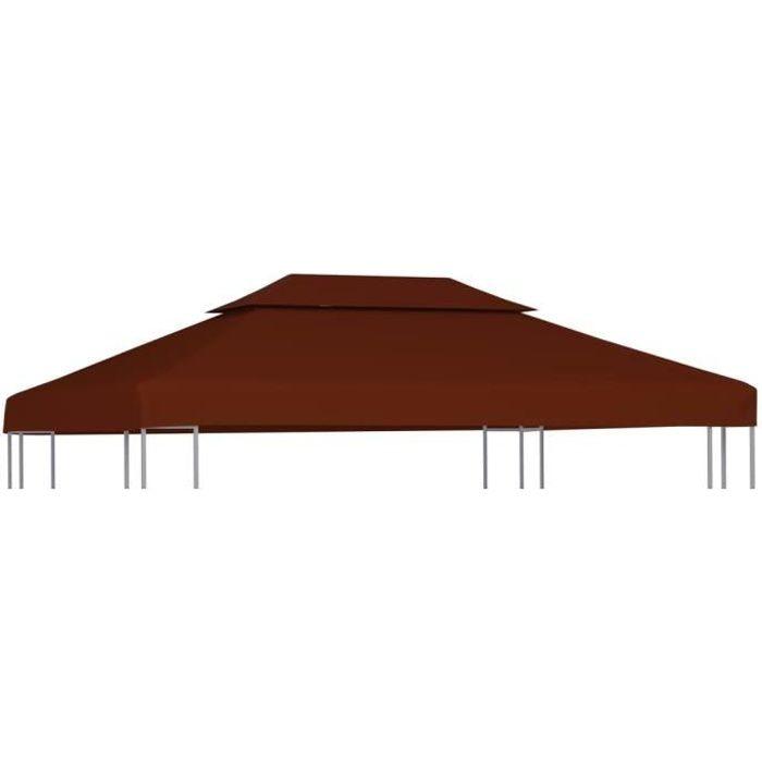 🕊3956Luxueuse Magnifique -Toile supérieure double de belvédère pour Tonnelle Tente Barnum Pavillon Toile couverture de Rechange- 31