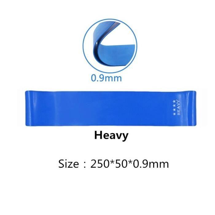 elastique musculation 1.4mm-0.45mm épais boucles en caoutchouc lourd bandes de résistance élast - Modèle: Blue 25cm - HSJSTLDB04627