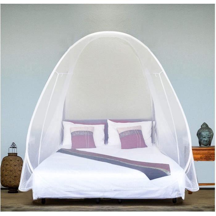 EVEN NATURALS Moustiquaire de luxe, Grande Taille : Pour lit Double à King size, Trous Fins, Auvent, Moustiquaire, Design Pliab A6