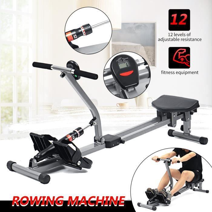 Rameur d'appartement Pour Fitness et Cardio Training Ecran LCD Multifonction