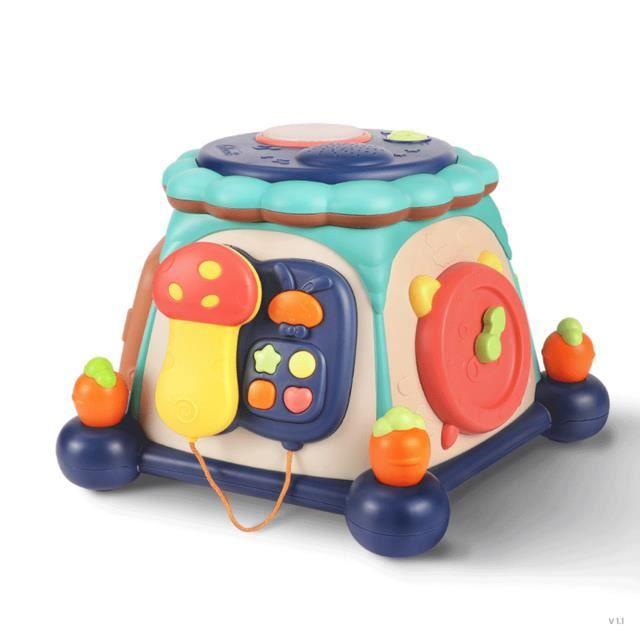Lapin mère bébé puzzle d'éducation précoce boîte à six faces jouet intelligence développement boîte à musique