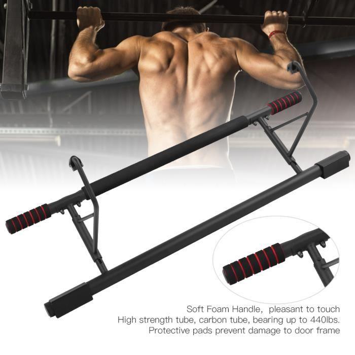 Barre de traction pour Porte Gym Barre Horizontale de Porte de Gym Exercice Fitness Charge Max 150KG - 100x26x34 cm HB035