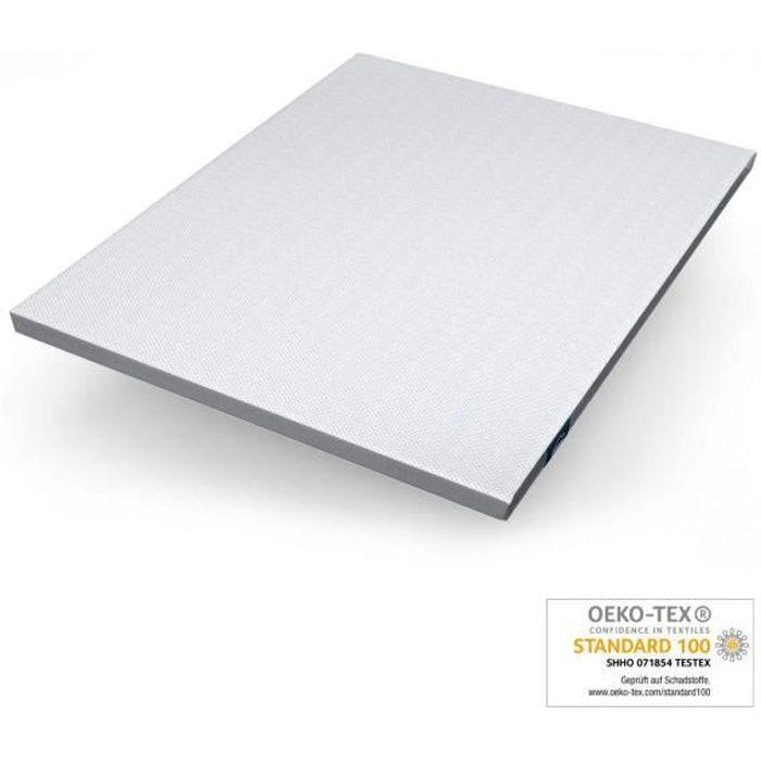 Genius eazzzy Surmatelas 160 x 200 cm - Protège-Matelas Ergonomique - Température de Sommeil optimale - Hypoallergénique - connu en