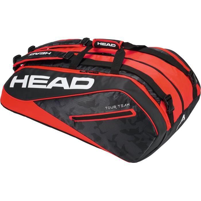 HEAD Tour Team 12R Supercombi Sac de Raquette de Tennis N-A Noir-Rouge