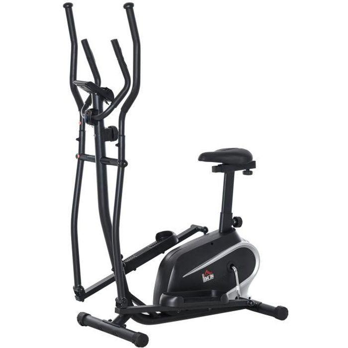 Vélo elliptique vertical vélo 103x62x151cm Noir