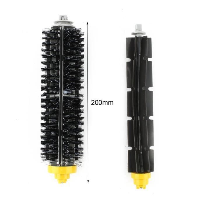 """Kit De 1 paire de extracteur brosse +3 Garde Filtre + 1 Brosse Latérale Pour iRobot Roomba série 600(600 620 630 650 660"""")"""