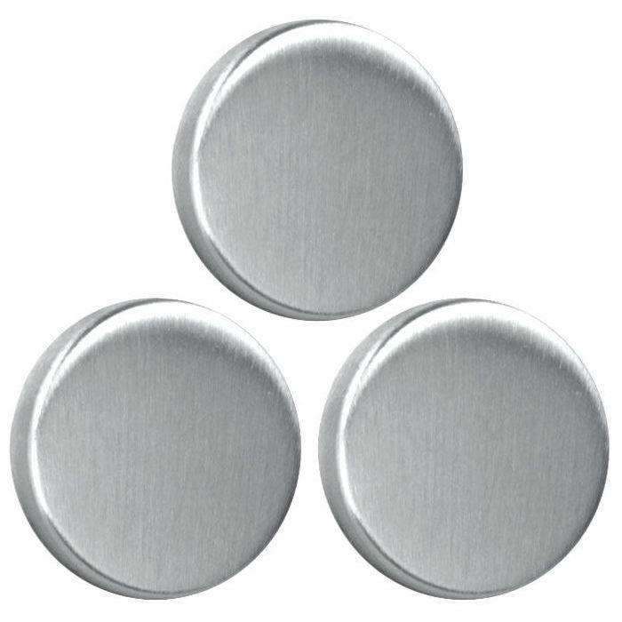 Magnets ronds inox 3.5cm lot de 3