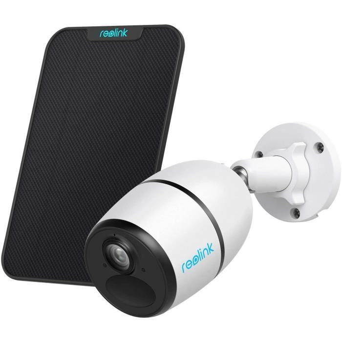Caméra Surveillance Reolink Caméra GO + Panneau Solaire Caméra 4G/3G LTE Extérieure sans Fil, HD 1080P Supporte Carte SIM