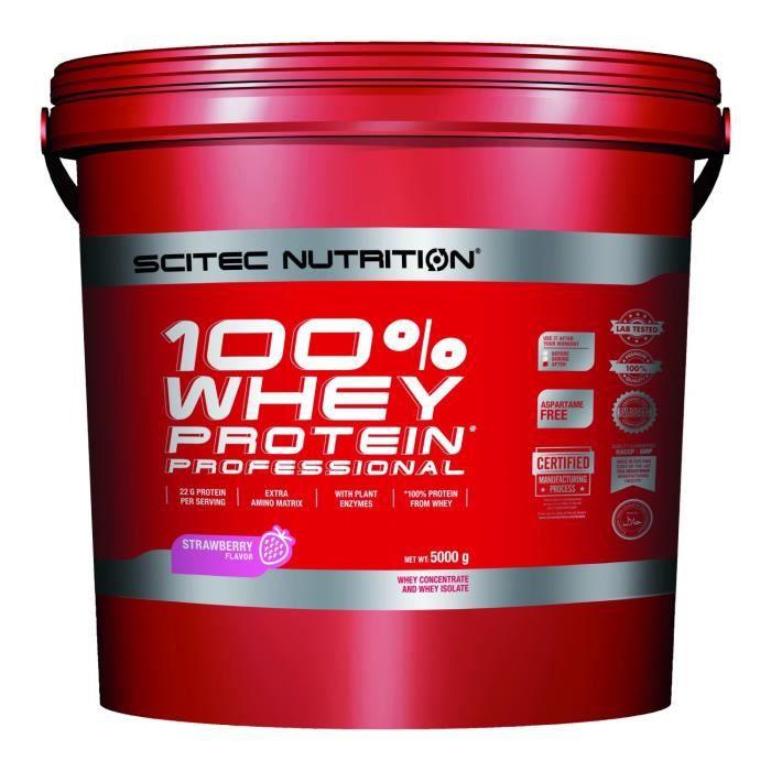 100% Whey Professional 5kg FRAISE Scitec 5000g