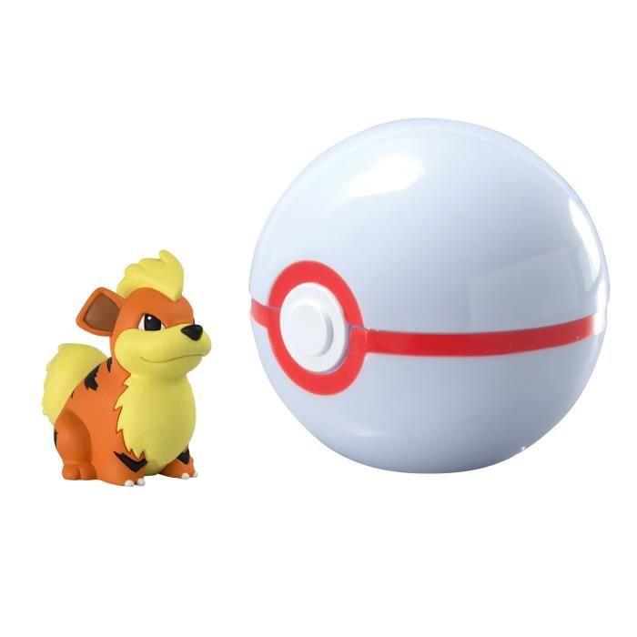 Tomy Pokémon Clip And Carry Poké Ball, Growlithe And Premier Ball 2W80T0