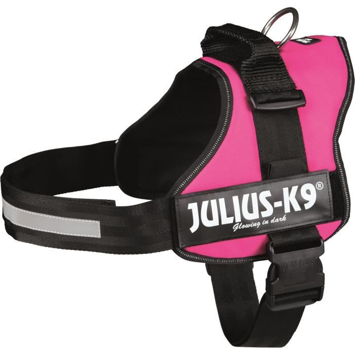 Harnais Power Julius-K9 - 3 - XL : 82-118 cm-50 mm - Fuchsia - Pour chien