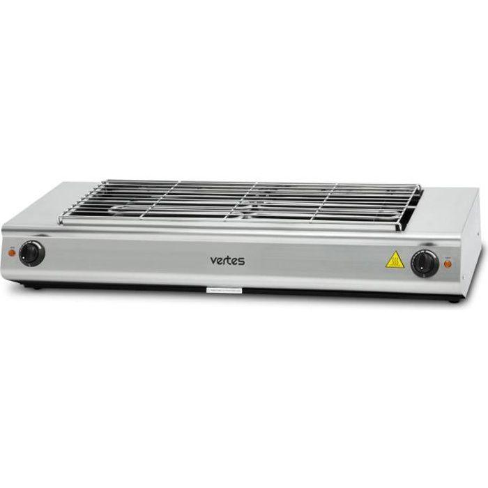vertes grill électrique de 4800 watts (230 V, température réglable en continu jusqu'à 500°, surface de gril de 765 x 235 mm)