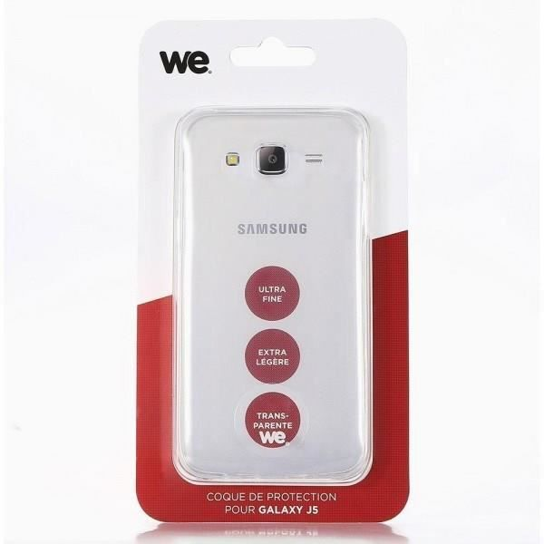 WE Coque de protection pour Galaxy J5 - Semi rigide - Transparente