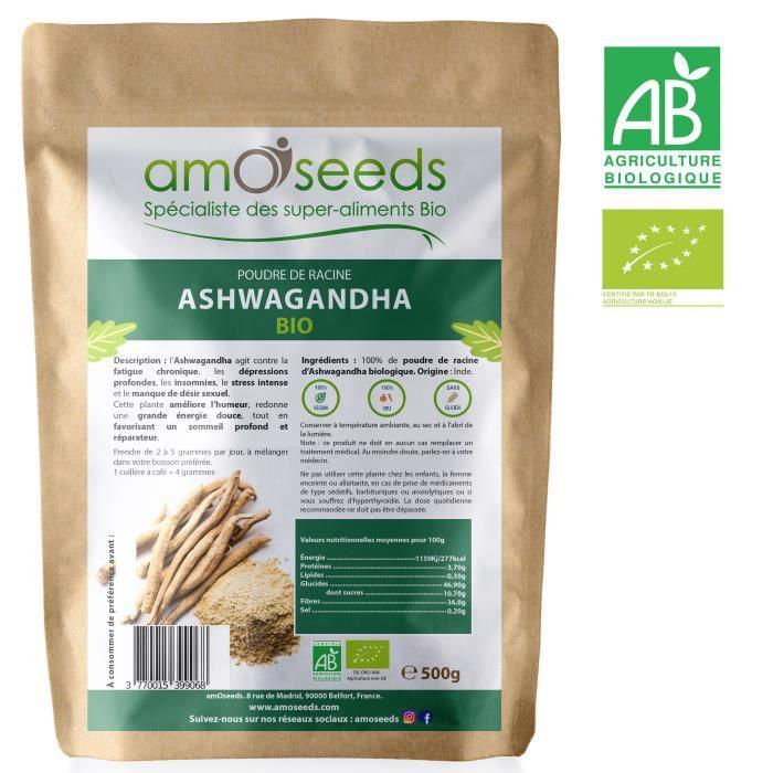 Acheter Ashwagandha Bio | Propriétés - Meilleure qualité - Pas cher