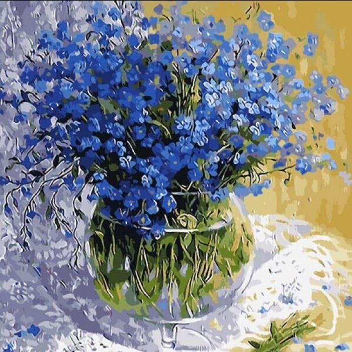 VASE - SOLIFLORE Vase bleu peinture numérique SHM80426944_0520