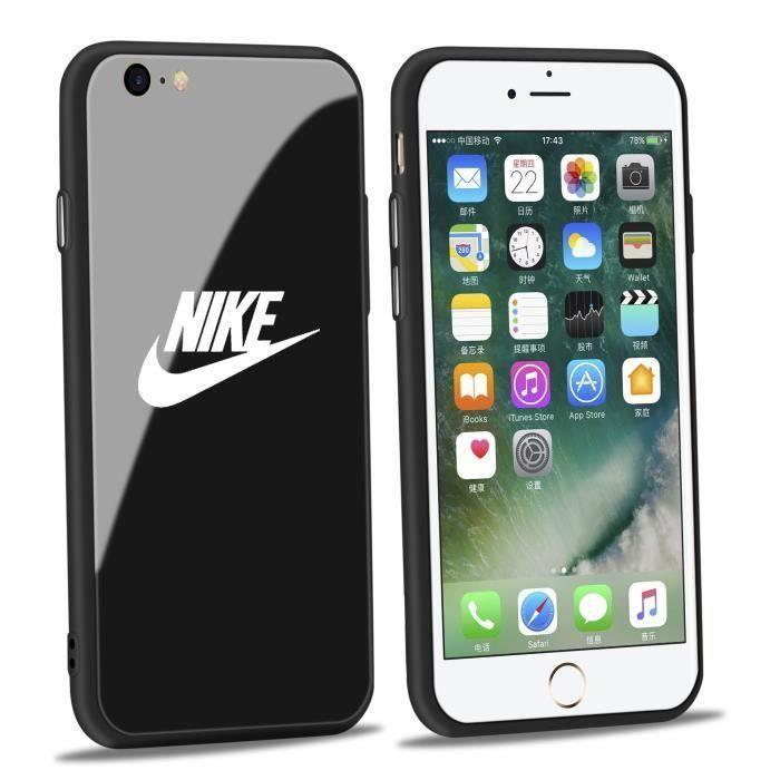 nike coque iphone 6 6s verre noir