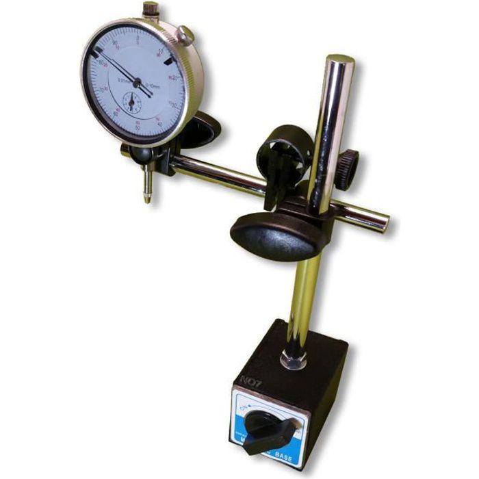 JAUGE - ÉTALON Support Magnétique + comparateur