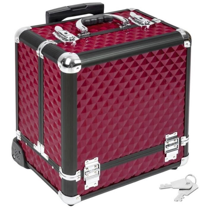 Malette trolley valise esth tique coiffure maquillage pro for Mallette a couture
