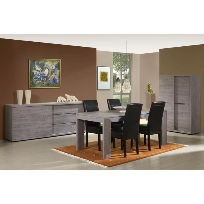 Ensemble salle manger avec meuble bar coloris cottage for Meuble collection tuff avenue