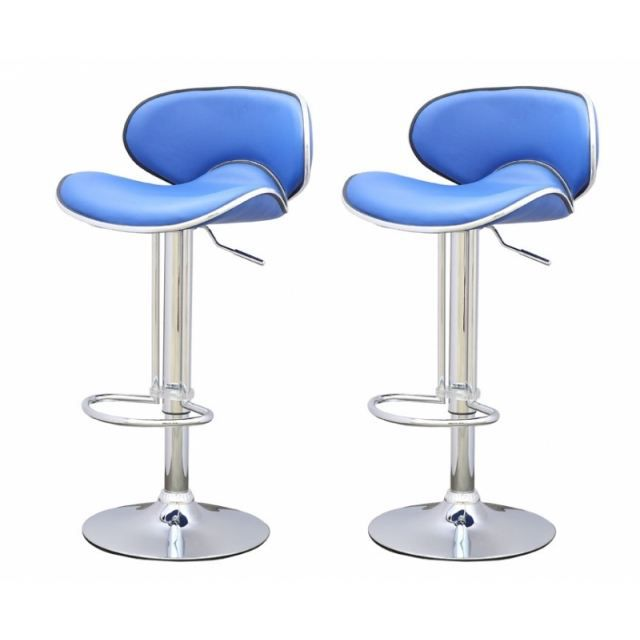tabouret de bar bleu x2 elite achat vente tabouret pvc. Black Bedroom Furniture Sets. Home Design Ideas