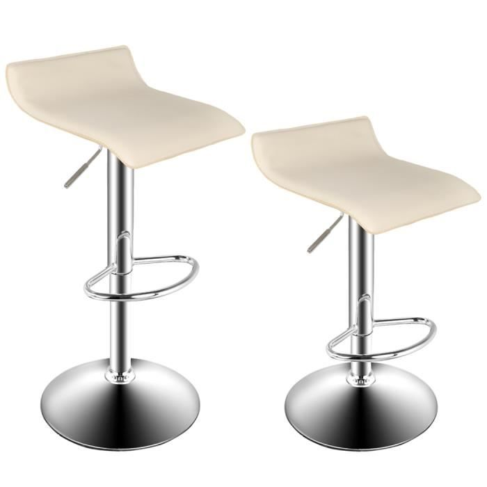 Tabouret beige bar salon moderne chrome chaise pivotante for Chaise moderne salon