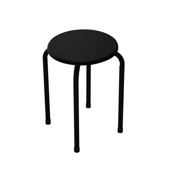 10 tabourets empilable noir achat vente tabouret bois mdf m tal epoxy cdiscount. Black Bedroom Furniture Sets. Home Design Ideas
