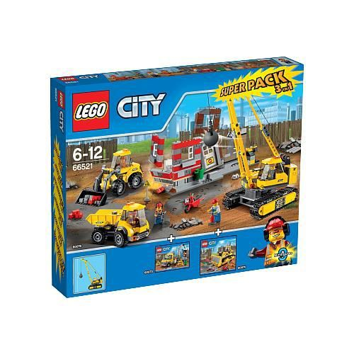 lego city super pack 3 en 1 demolition 66521 achat vente voiture construire cdiscount. Black Bedroom Furniture Sets. Home Design Ideas