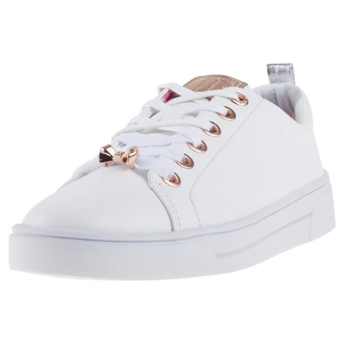Ted Baker Kellei Femmes Baskets Or Blanc - 6 UK