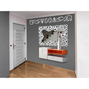 miroir mural bois blanc achat vente pas cher. Black Bedroom Furniture Sets. Home Design Ideas