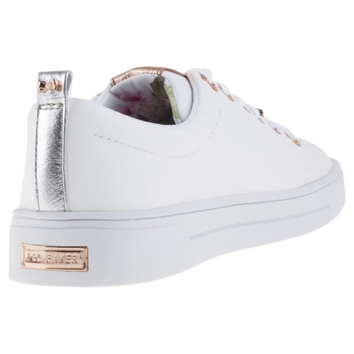 Ted Baker Kellei Femmes Baskets Or Blanc - 6 UK VVdf2pynk
