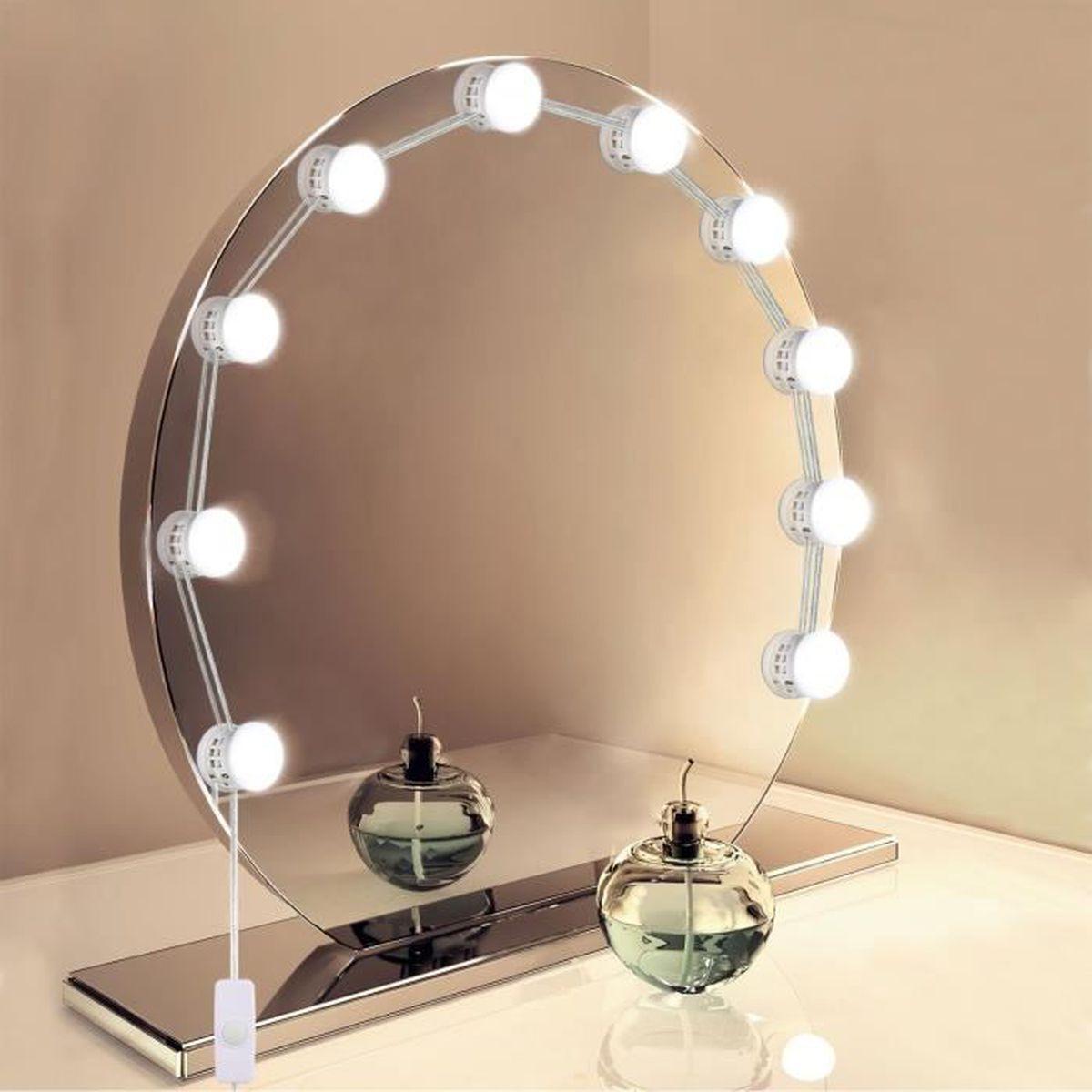 Hollywood Kit De Lumieres De Miroir Usb Powered 10 Ampoule