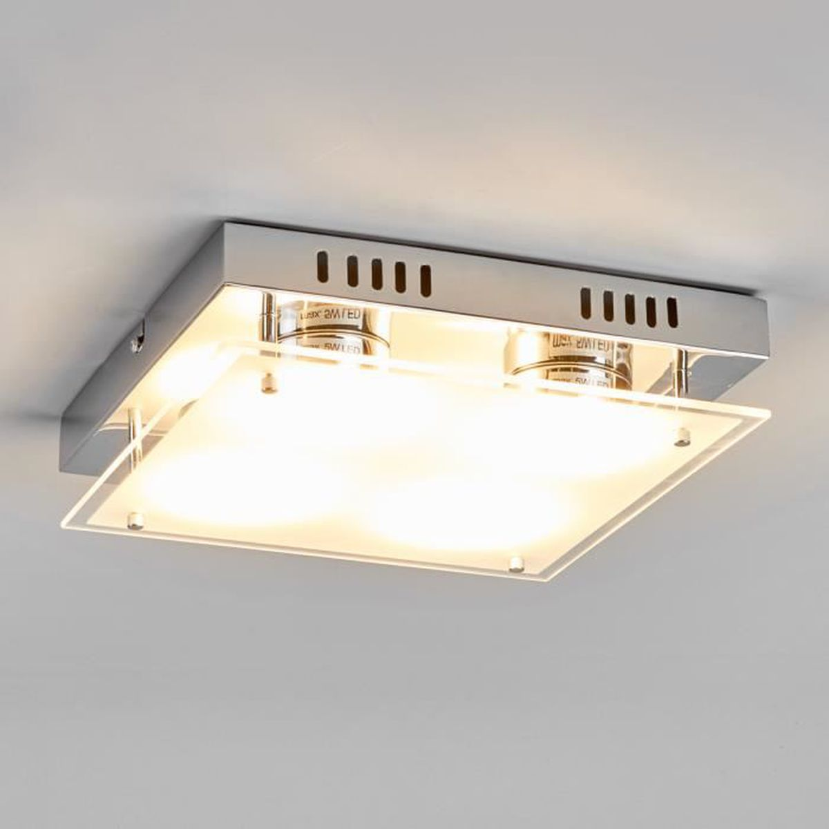 Plafonnier led carre achat vente plafonnier led carre for Plafonnier design pas cher