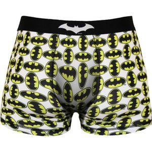BOXER - SHORTY Boxer Homme Batman Imprimé Logo - Blanc, jaune et