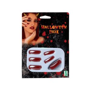 ATOSA - Faux ongles Halloween Adultes - Rouge